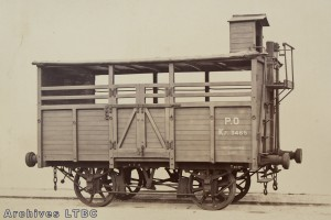 Couvert pour bestiaux et marchandises KF3465 de 1850 réformé en 1867